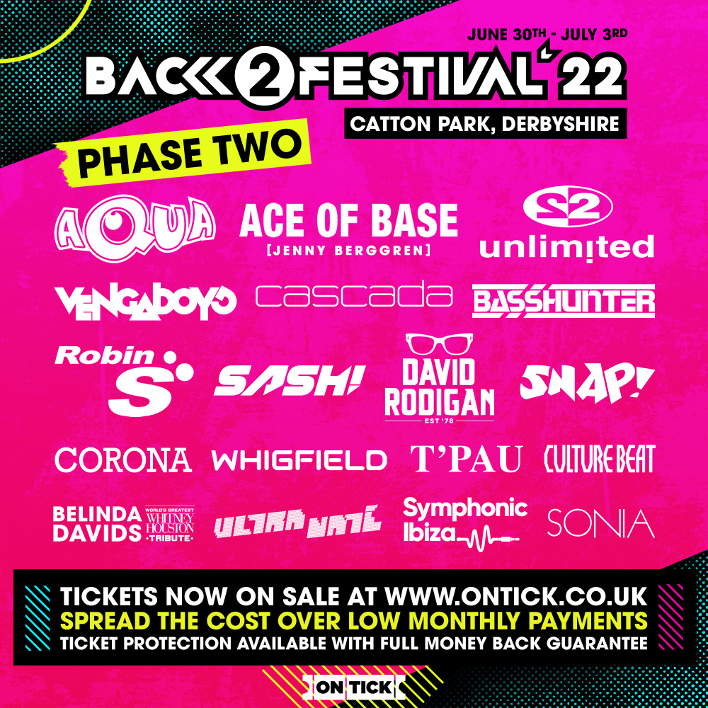 back to the 80's 90's 00's Festival 2022